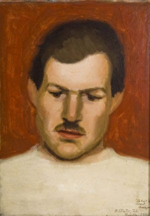 Strater, Portrait of Ernset Hemmingway, The Boxer Portrait, 1922 Oil. From the permanent collection of Ogunquit Museum of American Art (OMAA). All rights Reserved. No Usage Rights Granted Without Prior Written Permission From OMAA.
